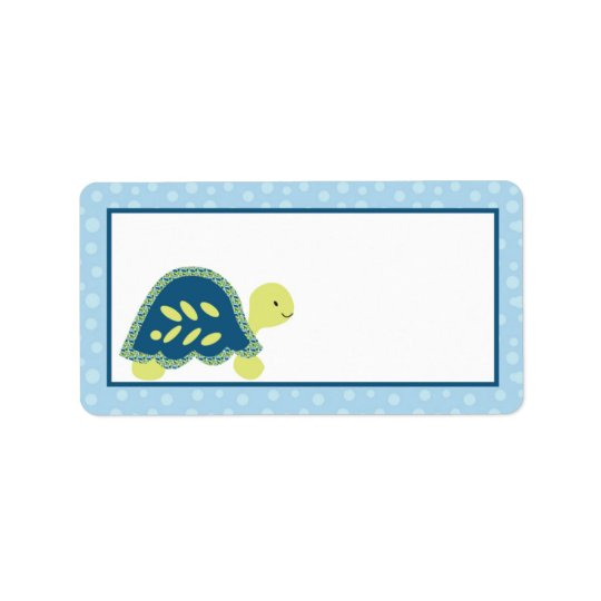 "1.25""x2.75"" Mailing Address Sea Turtle Reef Ocean Address Label"
