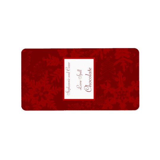 "1.25"" x 2.75"" Hershey's Miniature Christmas Red Address Label"