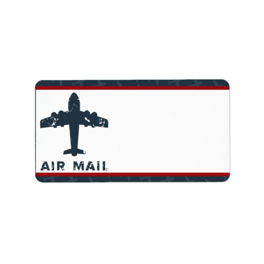 "1.25"" x 2.75"" Mailing Address Aeroplane Flight  Label"