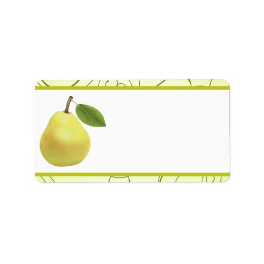 "1.25"" x 2.75"" Mailing Address Lime Green Pear Swir Label"