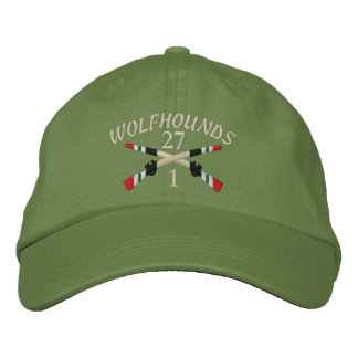 1-27th Infantry Iraq Crossed Rifles Embroidered Baseball Cap