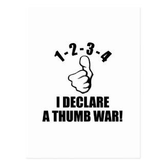 1-2-3-4 I Declare A Thumb War B-W Postcard