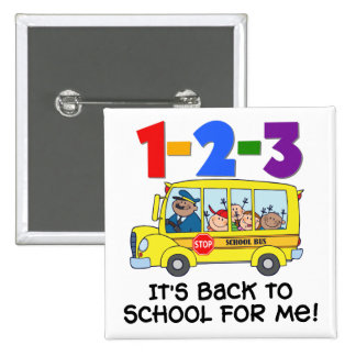 1-2-3 Back to School Pins