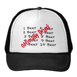 1,2,3, Beer Officially Drunk Cap