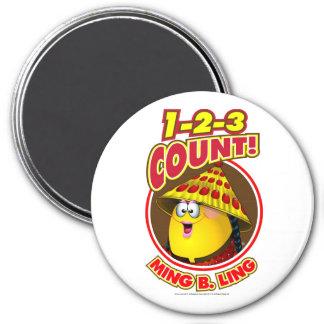1-2-3 Count Ming B Ling Fridge Magnets