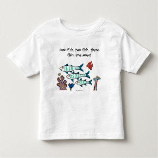 1, 2, 3 Fish with Little Fish and Coral Toddler T-Shirt