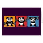 1-2-3 Weightlifting Panda Card