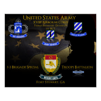 1-3 BSTB, 1st BCT, 3rd Division Poster