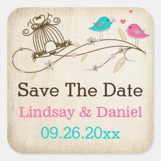 1 5 Whimsical Birds in Love Wedding Sticker