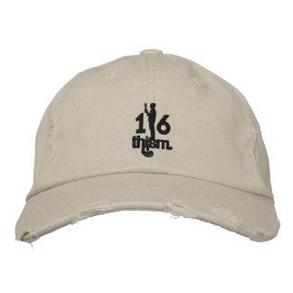 1/6thism_logo_01 embroidered baseball cap