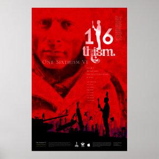 1/6thism_V1_scratched Poster