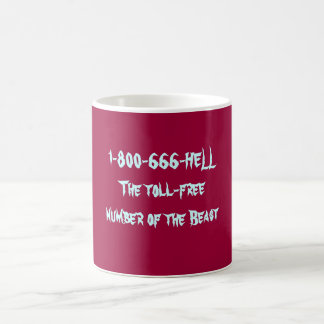 1-800-666-HELL The toll-free number of the Beast Basic White Mug
