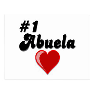 #1 Abuela Granparent's Day Gifts Postcard