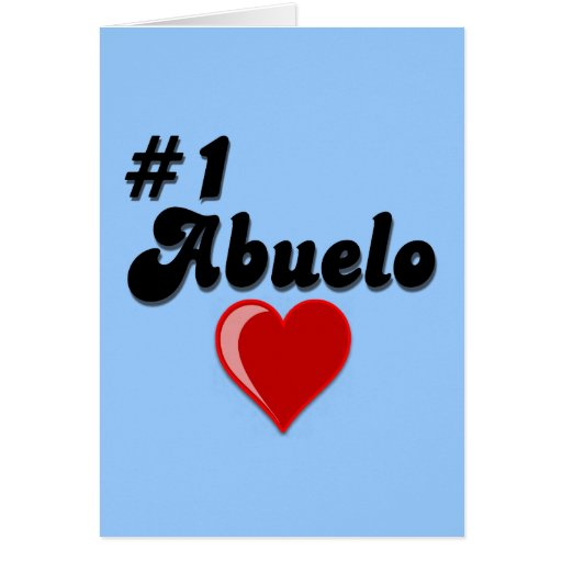 #1 Abuelo Grandparents Day Gifts Cards