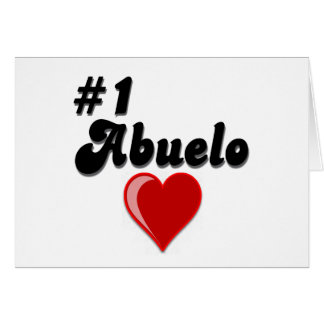 #1 Abuelo Grandparents Day Gifts Greeting Card
