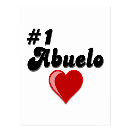#1 Abuelo Grandparents Day Gifts Postcard