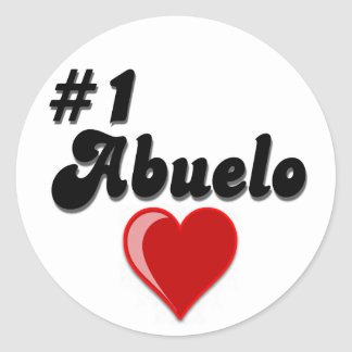 1 Abuelo Grandparents Day Gifts Round Stickers