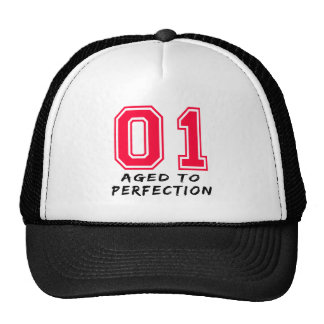 1 Aged To Perfection Birthday Design Hats