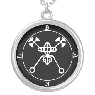 1. Bael - Goetia seal Silver Plated Necklace