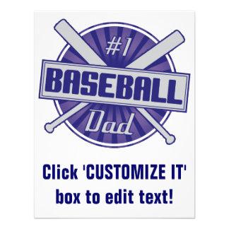 1 Baseball Dad Invitations