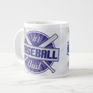 #1 Baseball Dad Mug 20 Oz Large Ceramic Coffee Mug
