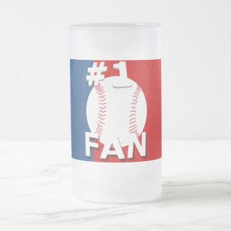 1 Baseball Fan Red and Blue Mug