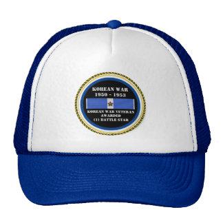 1 BATTLE STAR KOREAN WAR VETERAN CAP