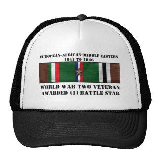 1 BATTLE STAR / WORLD WAR II VETERAN CAP