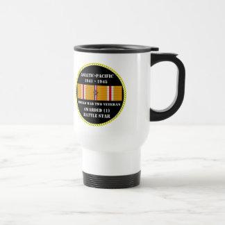 1 BATTLE STAR / WORLD WAR II VETERAN COFFEE MUG