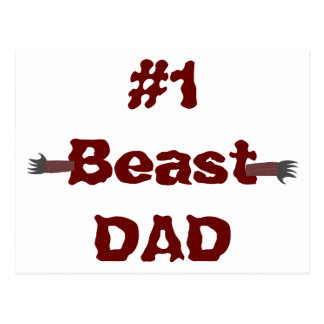 #1 Beast Dad - Punny Father's Day Postcard