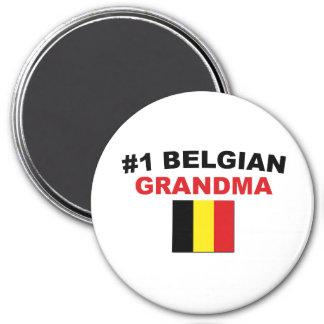 #1 Belgian Grandma 7.5 Cm Round Magnet