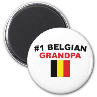 #1 Belgian Grandpa 6 Cm Round Magnet