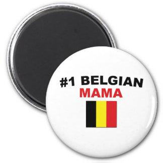 #1 Belgian Mama 6 Cm Round Magnet