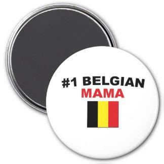 #1 Belgian Mama 7.5 Cm Round Magnet