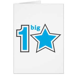 1 BIG STAR GREETING CARD