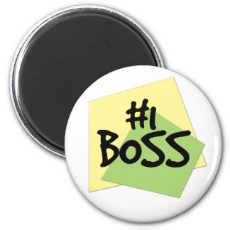 #1 Boss 6 Cm Round Magnet