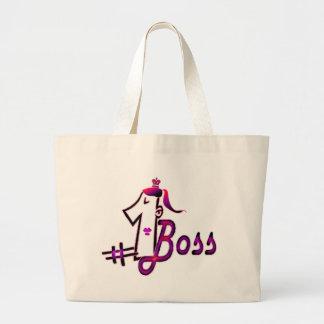 #1 boss jumbo tote bag