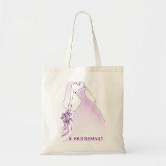 #1 Bridesmaid Tote Canvas Bag