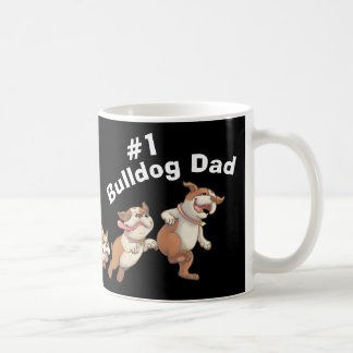 #1 Bulldog Dad (Dark) Coffee Mug