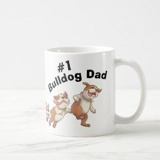 #1 Bulldog Dad (Light) Coffee Mug