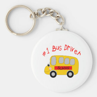 #1 Bus Driver Basic Round Button Key Ring