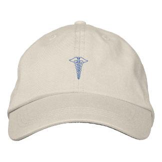 "1"" Caduceus Outline Embroidered Baseball Caps"