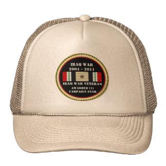 1 CAMPAIGN STAR IRAQ WAR VETERAN TRUCKER HATS