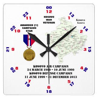 1 CAMPAIGN STAR KOSOVO WAR VETERAN CLOCKS