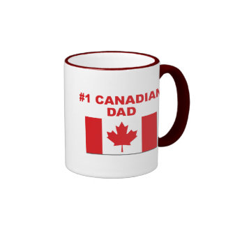 #1 Canadian Dad Ringer Mug