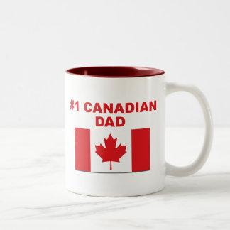 #1 Canadian Dad Two-Tone Mug