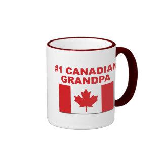 #1 Canadian Grandpa Ringer Mug