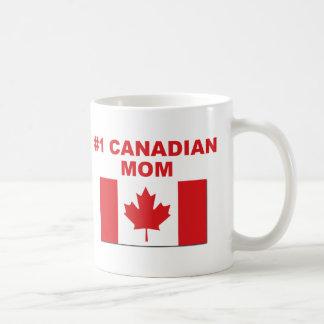 #1 Canadian Mom Basic White Mug