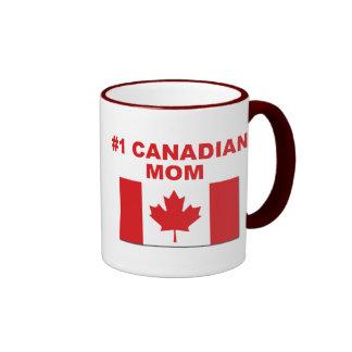 #1 Canadian Mom Ringer Mug