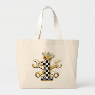 1 checkered flag number canvas bags